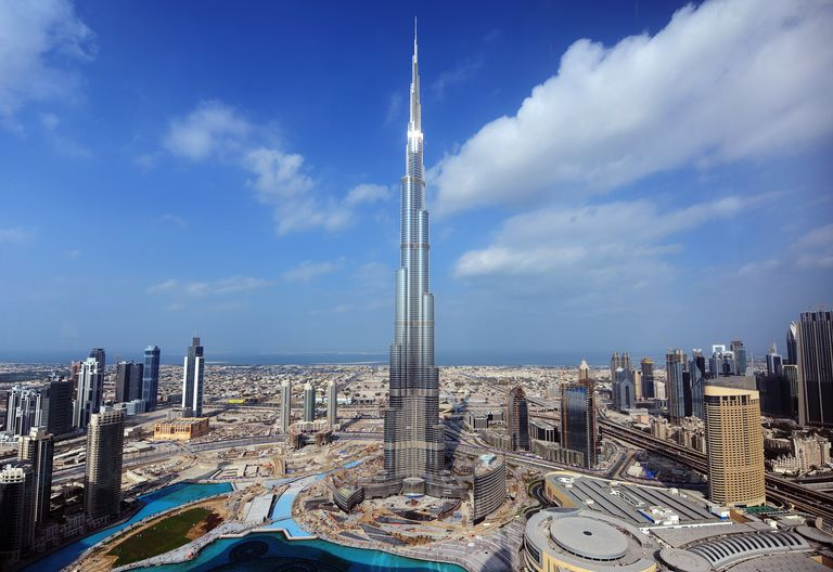 Photo of tallest building in the world, the skyscraper Burj Khalifa in Dubai, UAE.
