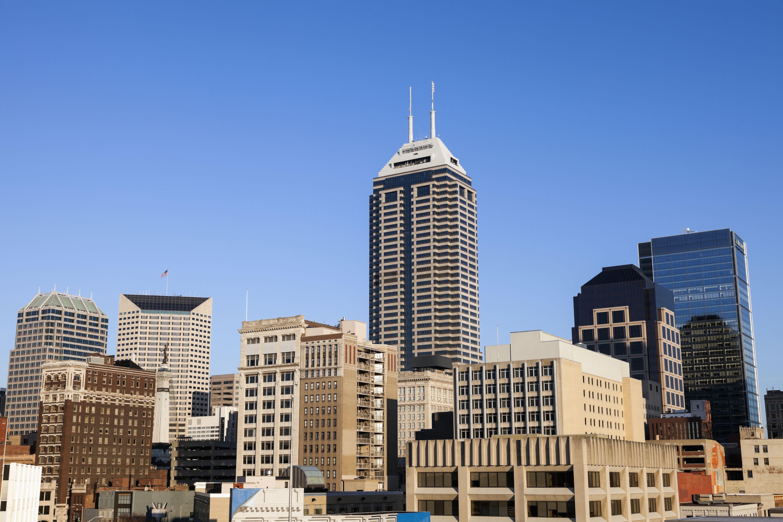 USA, Indiana, Indianapolis, Skyline against clear sky