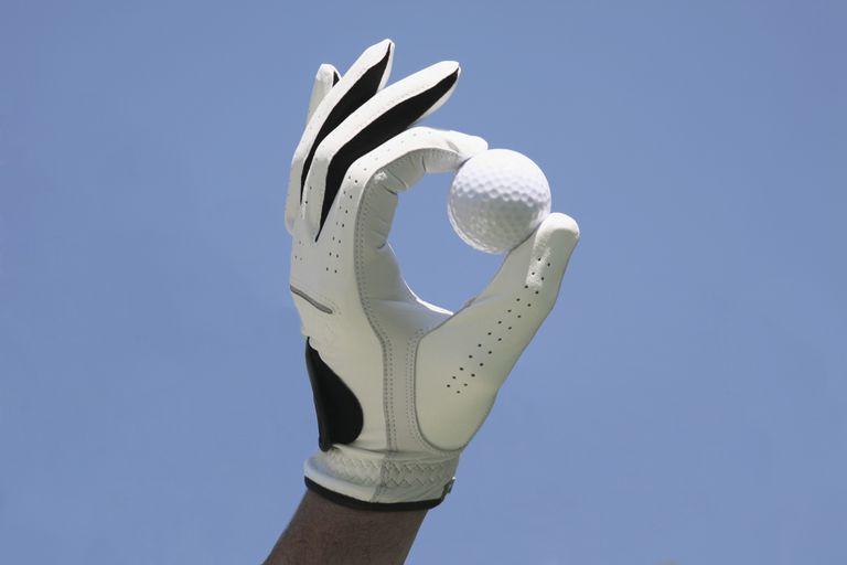 Golf ball in a hand