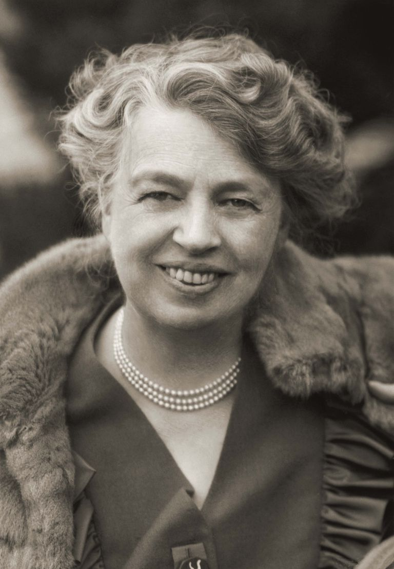Picture of Eleanor Roosevelt.