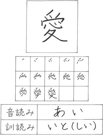 How To Write Love In Japanese Kanji