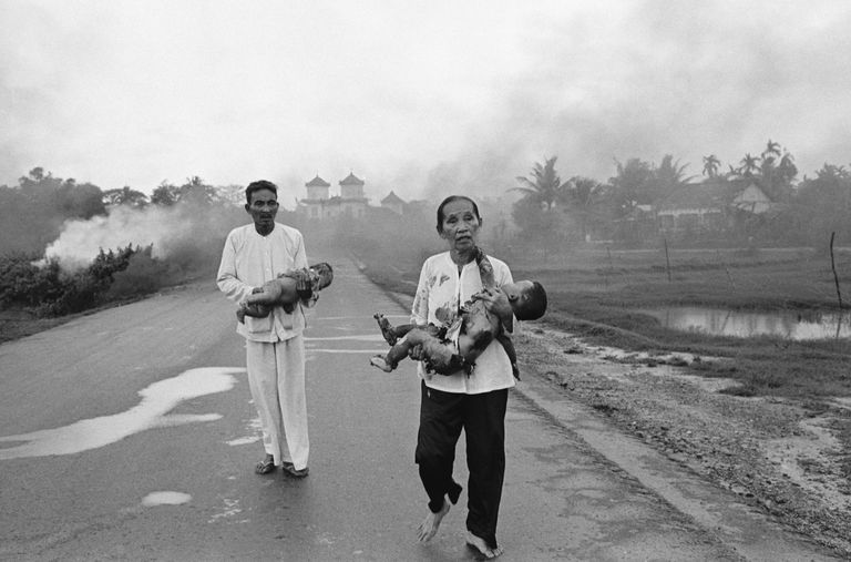 Vietnamese Civilians Running From Napalm