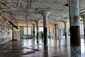 Interior of Alcatraz US federal penitentiary.