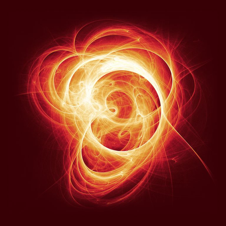 3D illustration of swirls of light.
