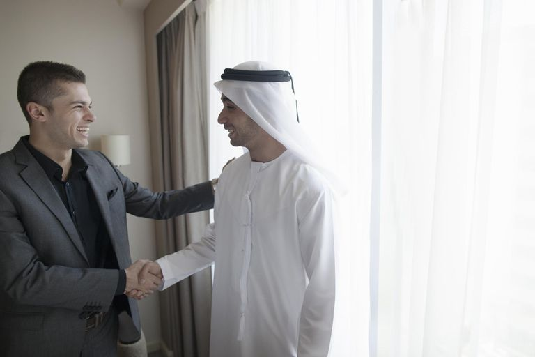 Middle Eastern Businessmen shaking hands