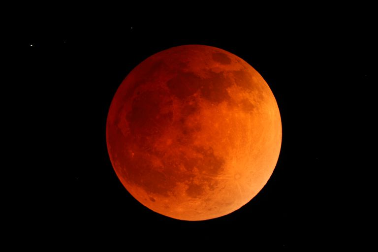 A blood moon is one name for the reddish moon viewed during a total lunar eclipse.