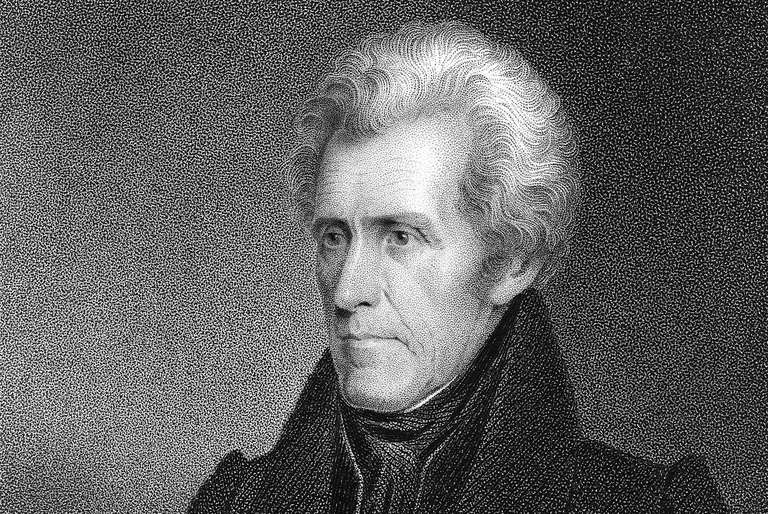 Engraved portrait of President Andrew Jackson