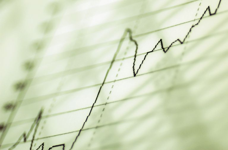 Close-up of a line graph
