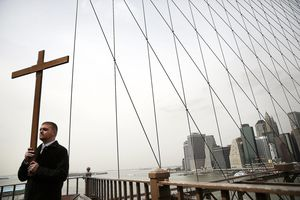 Cardinal Dolan Takes Part In Way Of The Cross