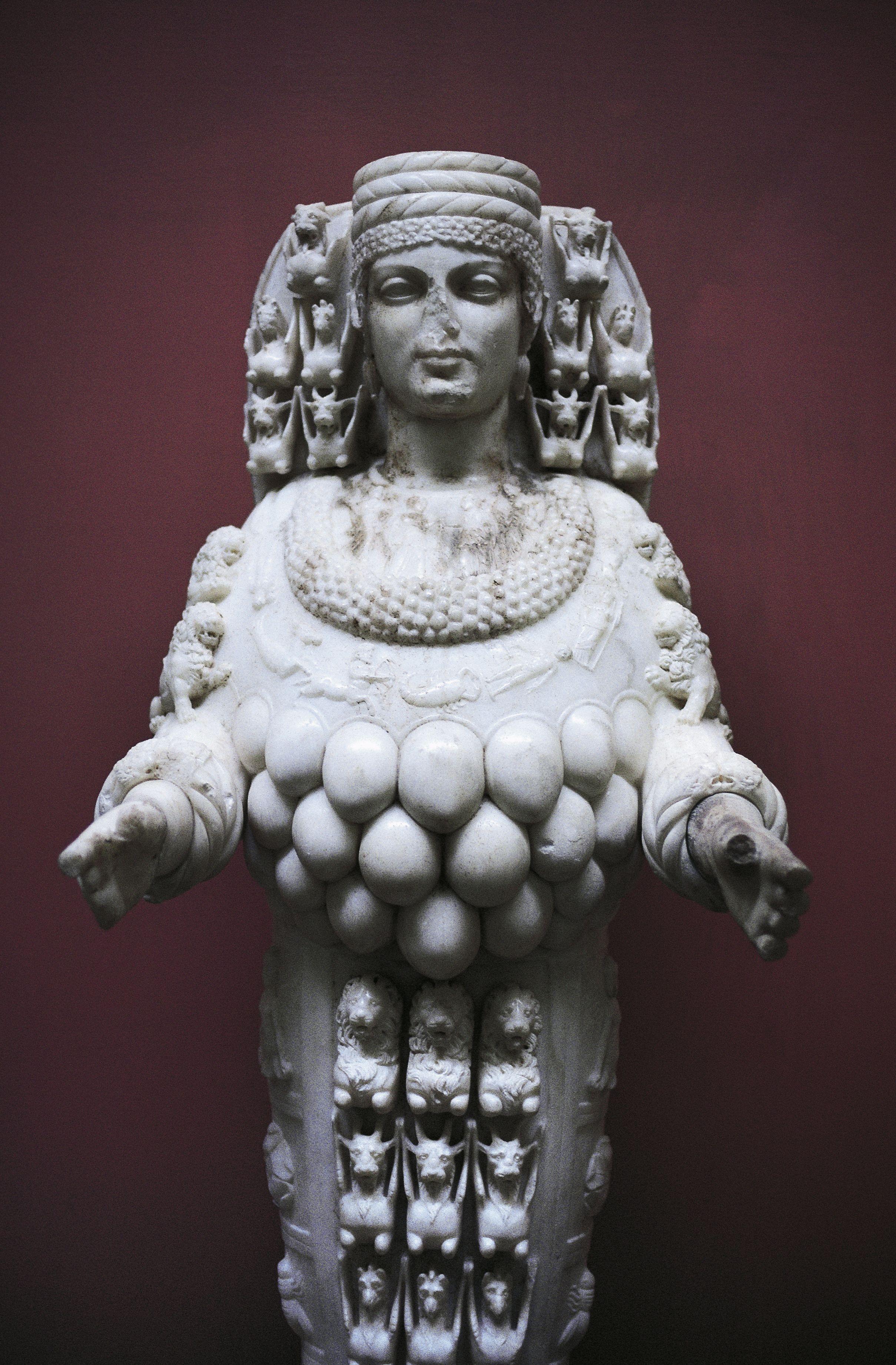 A replica of the statue of Artemis at Ephesus