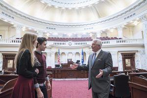 governor giving tour