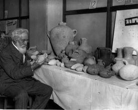William Flinders Petrie in His Lab