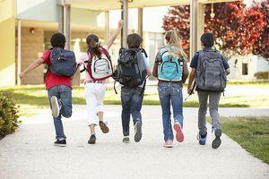 Schoolchildren Returning to School