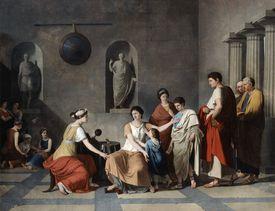 'The Mother of the Gracchi', c1780. Artist: Joseph Benoit Suvee