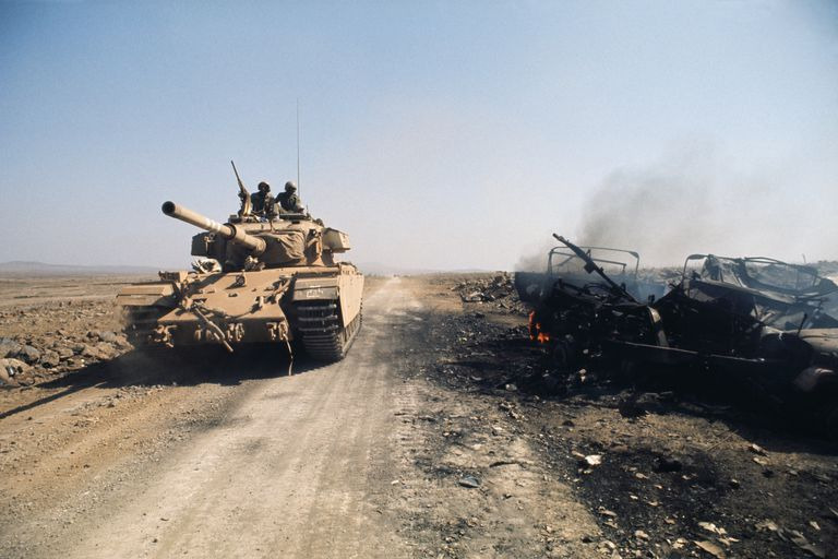 Israeli tank on the Golan Heights, October 1973.
