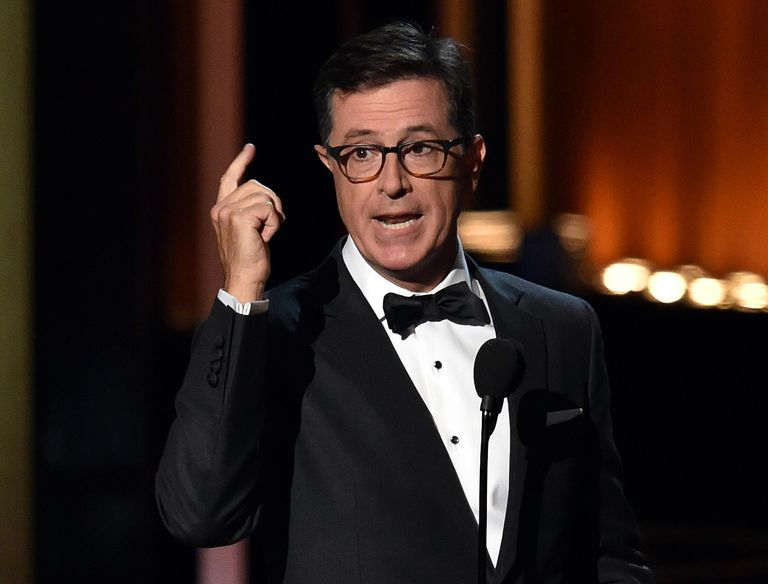 Late night host Stephen Colbert