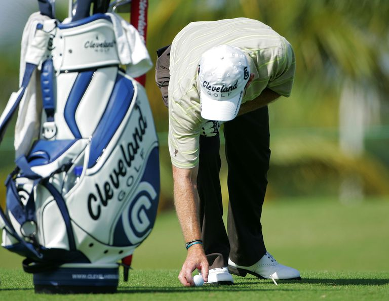PGA Tour golfer Skip Kendall takes advantage of lift, clean and place during the Puerto Rico Open