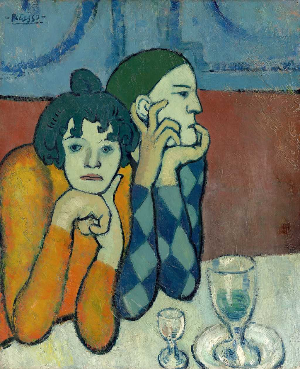 The Two Saltimbanques (Harlequin and his Companion) by Pablo Picasso