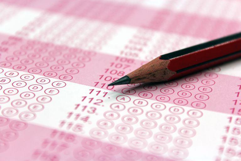 Pencil on an OMR sheet