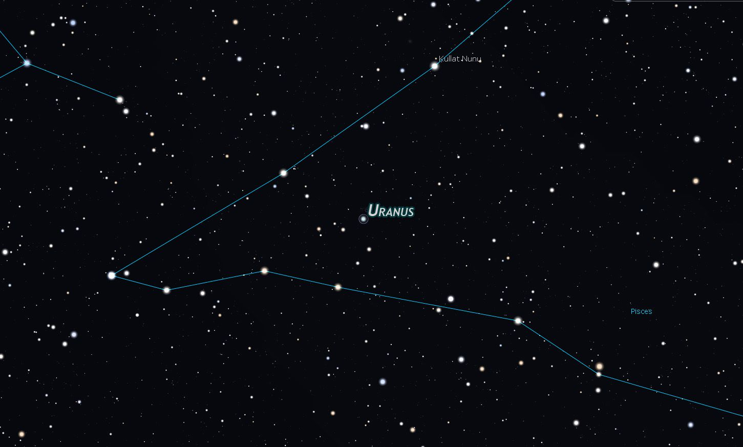 Finding Uranus and Neptune to view through a small telescope.