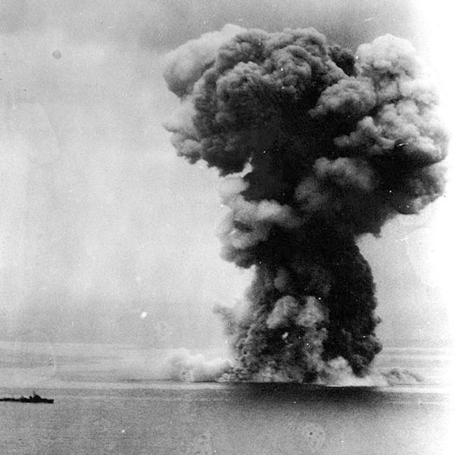 Yamato explodes, Operation Ten-Go