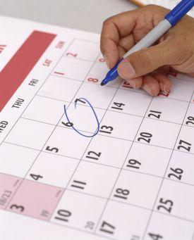 Marcado de fecha en calendario