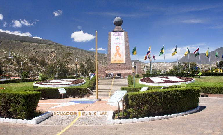 The line of the Equator in Ecuador.