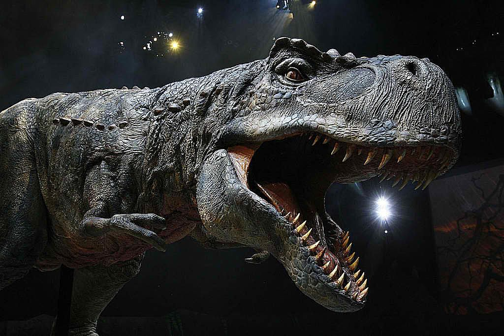 Gorgosaurus with its mouth open