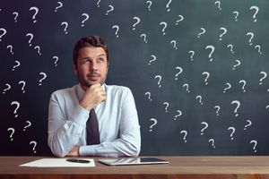 Businessman Has Questions