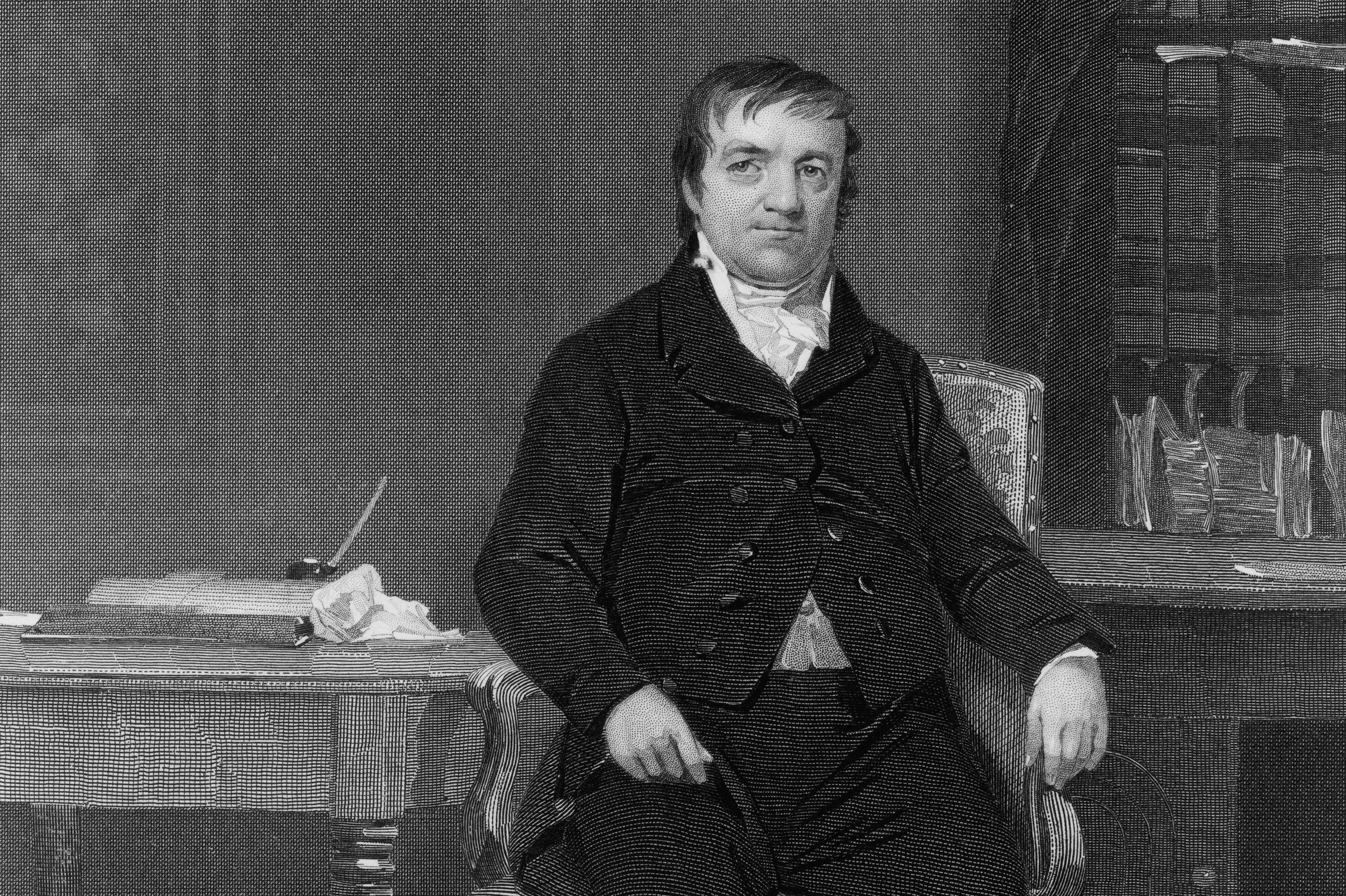 Engraved portrait of John Jacob Astor
