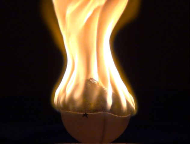 Ping pong balls are made from a flammable plastic.