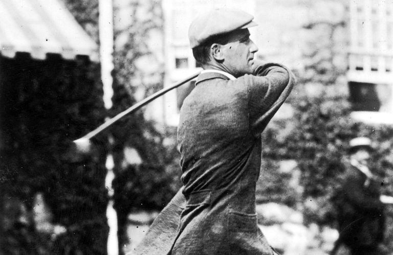 British golfer Harold Hilton pictured in 1911