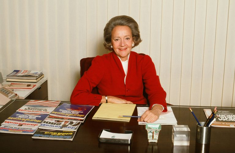 Portrait of publisher Katharine Graham, 1980