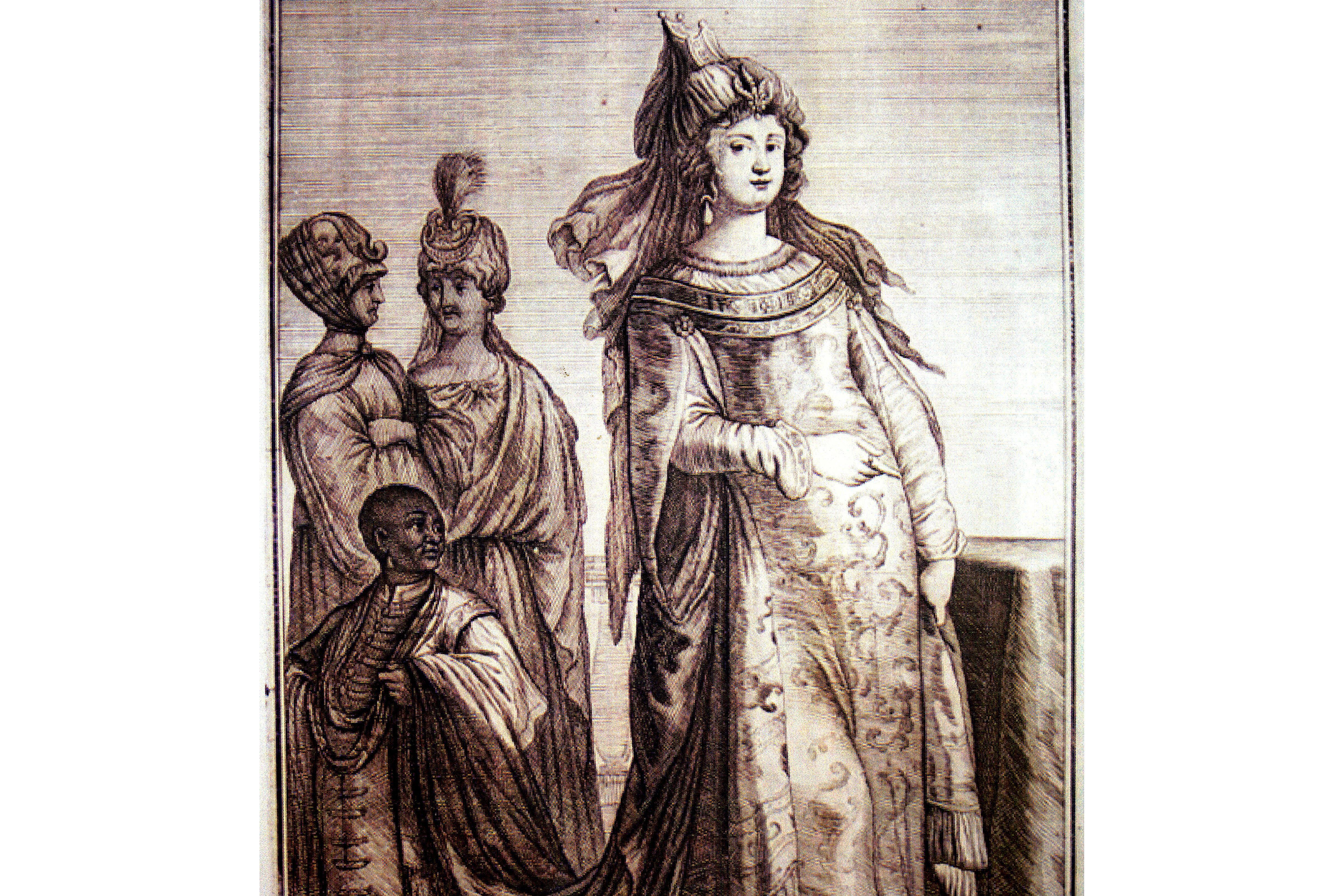 Mehpeyker Sultan with servants