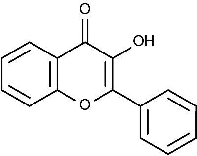 This is the chemical structure of flavonol.