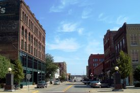 Historic Fourth Street in Sioux City, Iowa