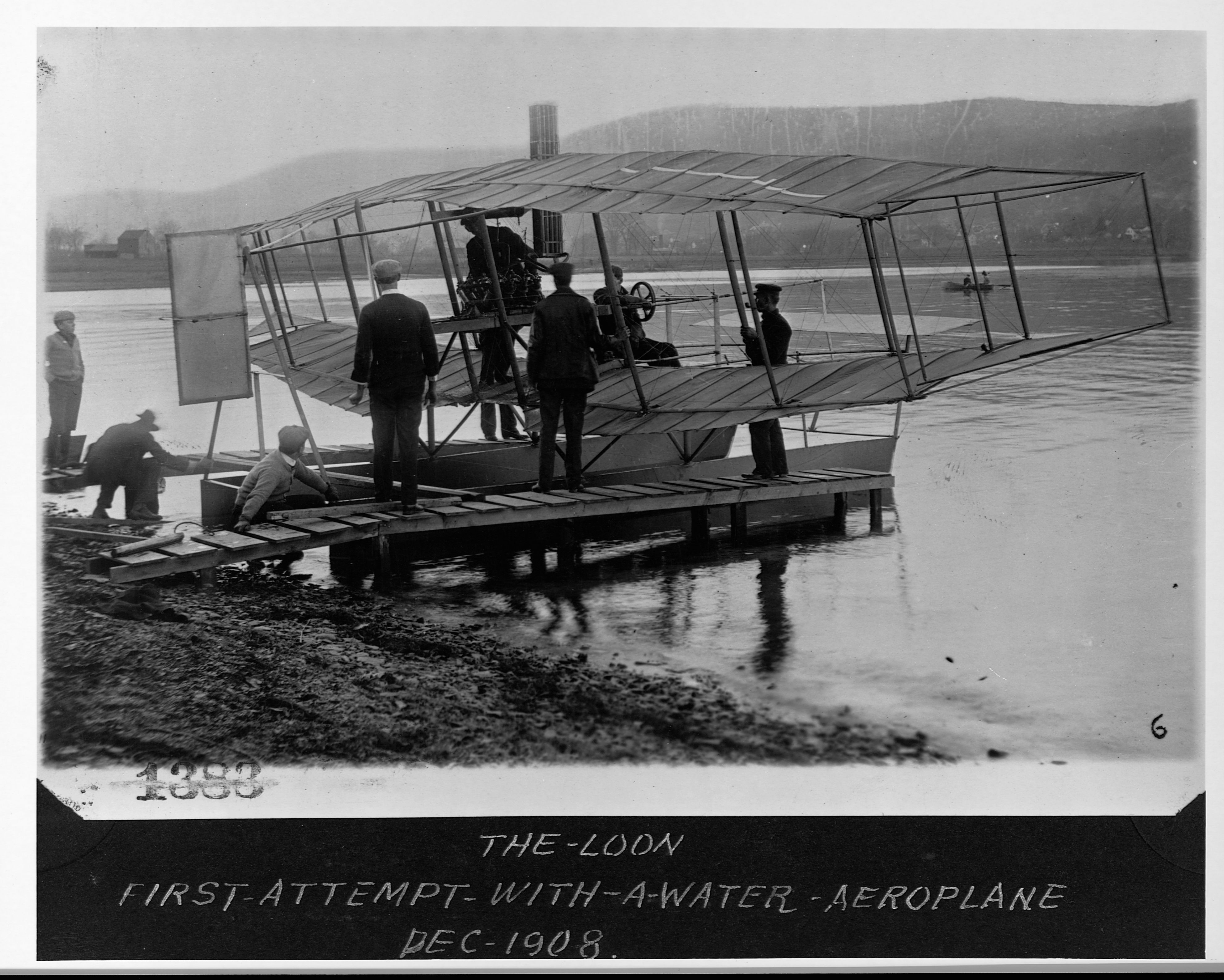 A List Of Important Inventions And Innovations Diagram Together With Boat Battery Wiring On Electric Fence The First Attempt By Aviator Glenn Curtiss To Create Seaplane Aka Flying Didnt Work So Well Getty Images Library Congress