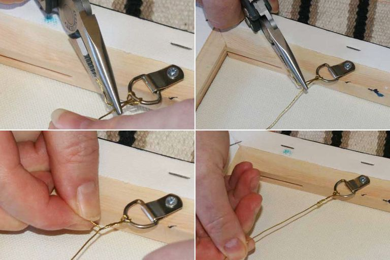 How to Hang a Painting With Wire and D-Rings