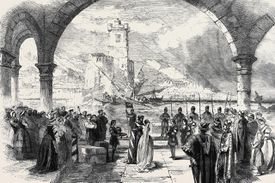 Scene From Othello At The Princess Theatre; The Town And Harbour Of Cyprus