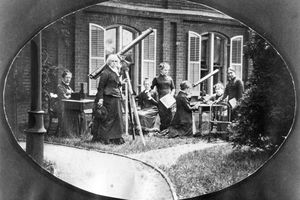 Maria Mitchell and students, about 1870