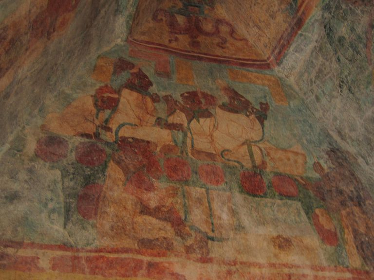Bonampak Murals, Room 3: Royal Family Performing a Bloodletting Ritual