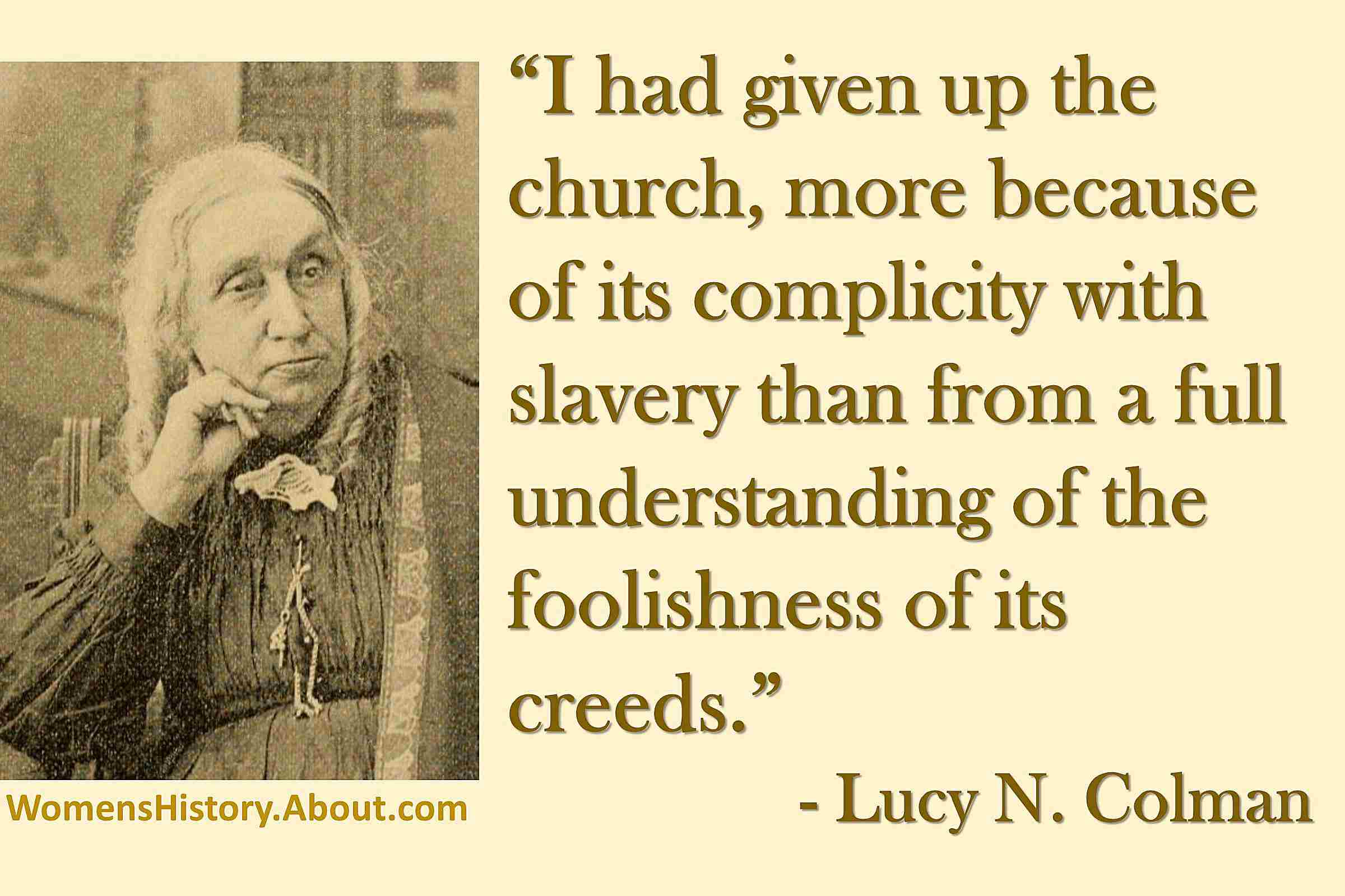 Quote from Lucy Colman