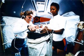 Pictures of Mae Jemison - STS-47 Onboard Photo