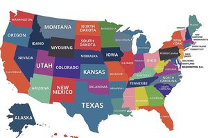 United States Map Study Guide.Geography