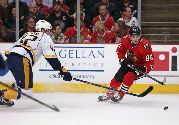 Patrick Kane on the Ice