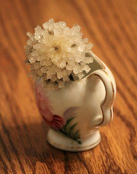 It's easy to crystallize a real flower, such as this thistle.