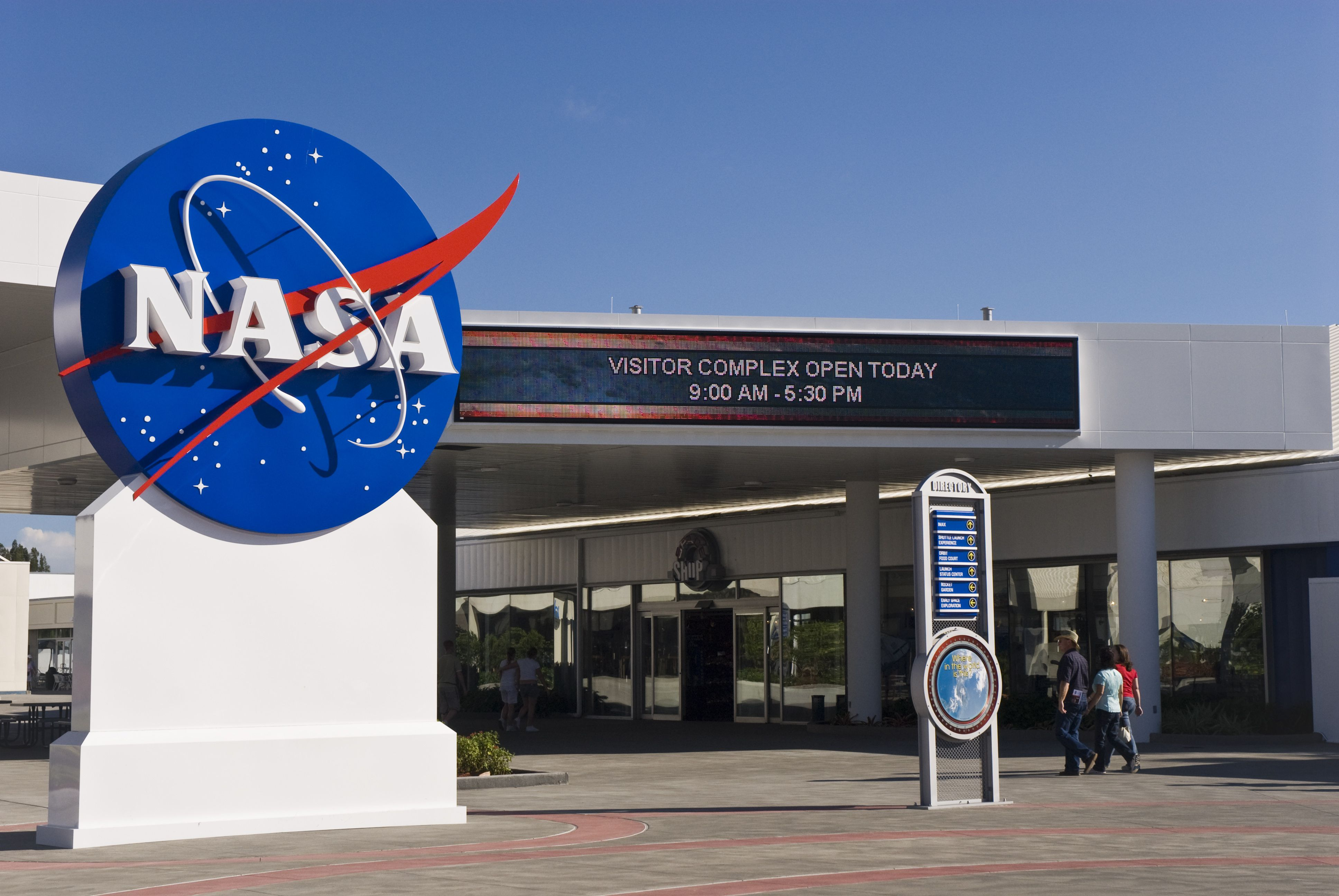 Entrance to the Kennedy Space Center Visitors Center.