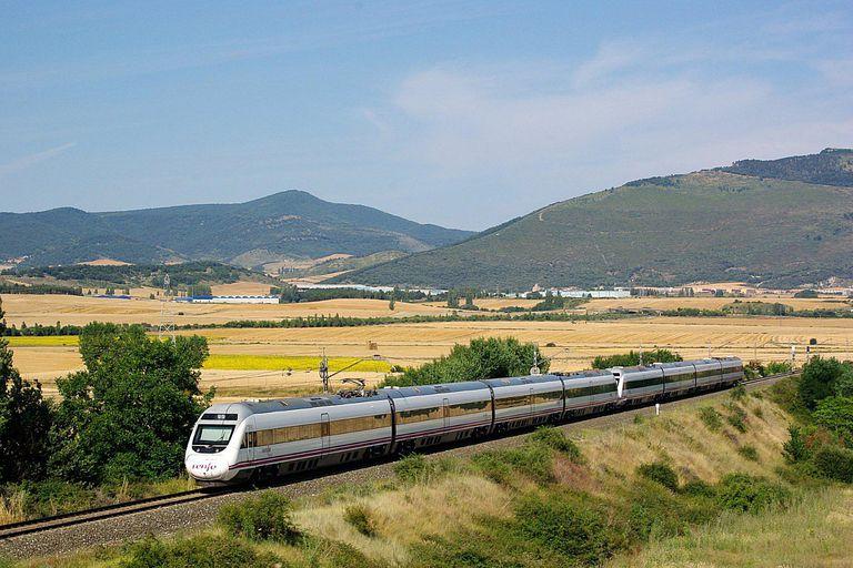 Train near Barcelona