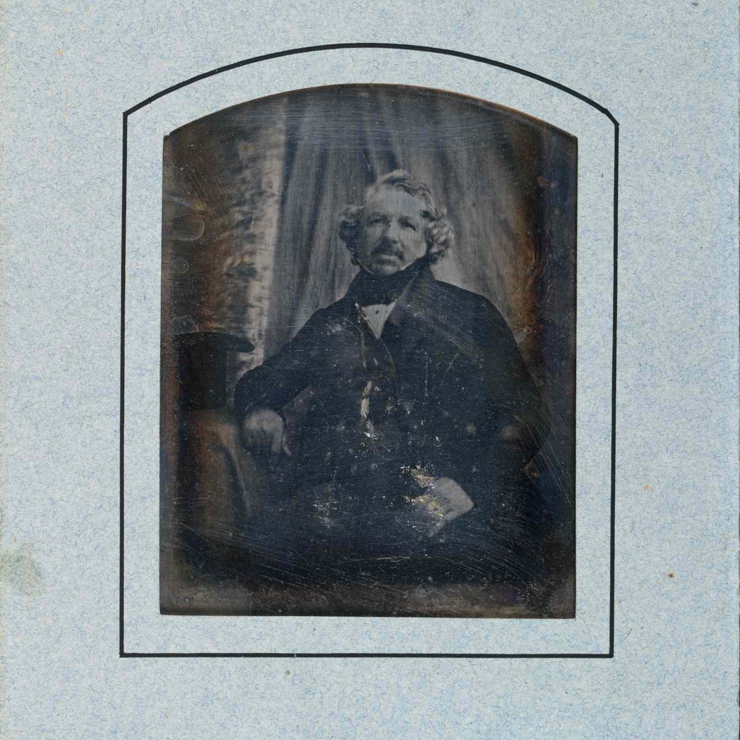 daguerreotype portrait of Louis Daguerre circa 1844