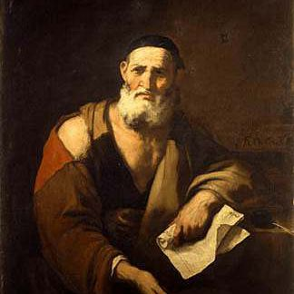 Leucippus painting